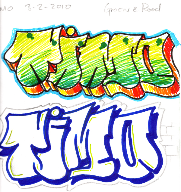 timo graffiti sketch